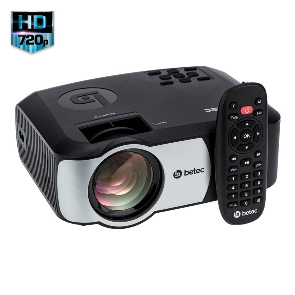 MINI PROJETOR LED PORTÁTIL - HD - 2200 LUMENS - BETEC BT728